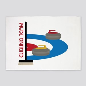 Curling Team 5'x7'Area Rug