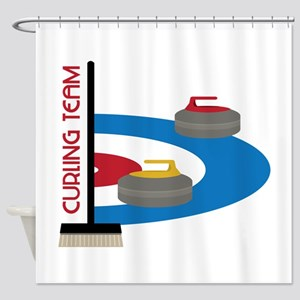 Curling Team Shower Curtain