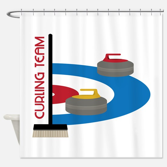 Curling Team Shower Curtain