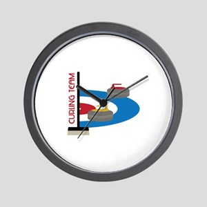 Curling Team Wall Clock