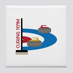 Curling Team Tile Coaster