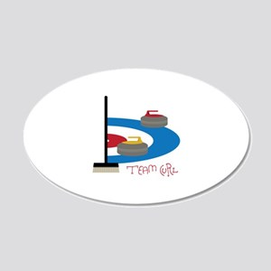 Team Curl Wall Decal