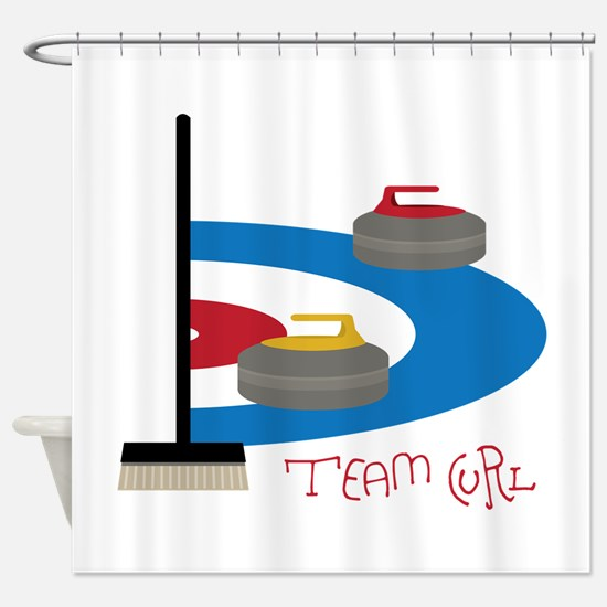 Team Curl Shower Curtain