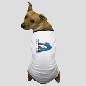 Curling Sport Dog T-Shirt