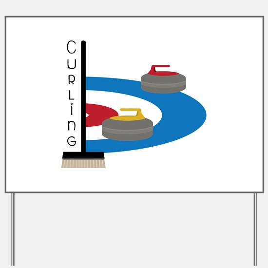 Curling Sport Yard Sign