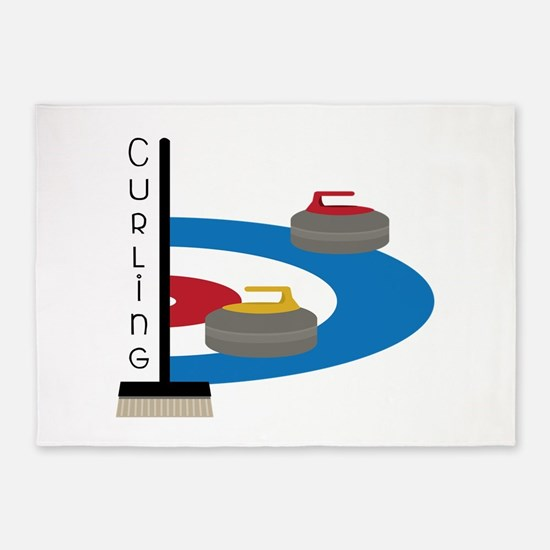 Curling Sport 5'x7'Area Rug