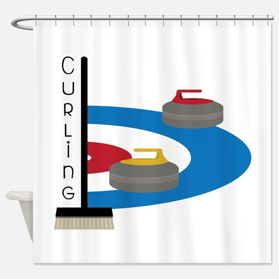 Curling Sport Shower Curtain