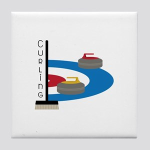 Curling Sport Tile Coaster