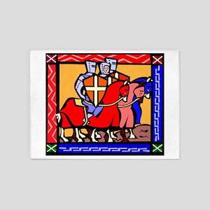 Knights Templar 5'x7'Area Rug