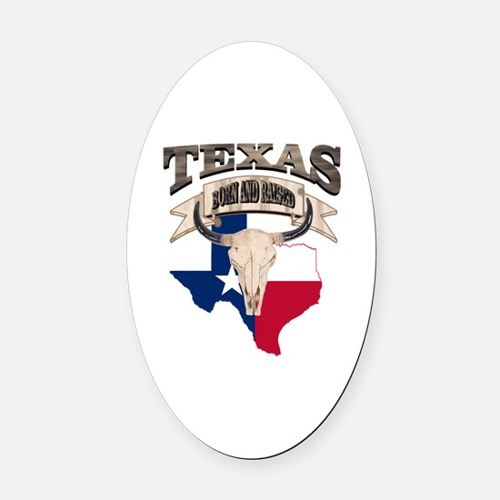 Cute Texas star Oval Car Magnet