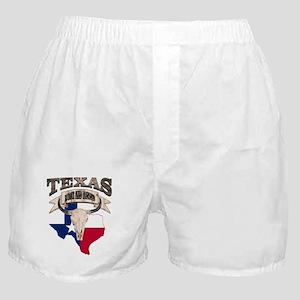 Bull Skull Texas Pride Boxer Shorts