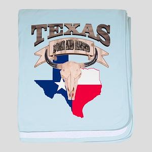 Bull Skull Texas Pride baby blanket