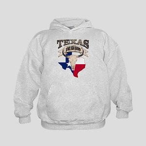 Bull Skull Texas Pride Kids Hoodie