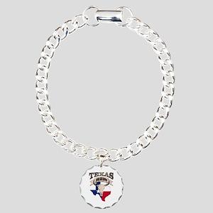 Bull Skull Texas home Charm Bracelet, One Charm
