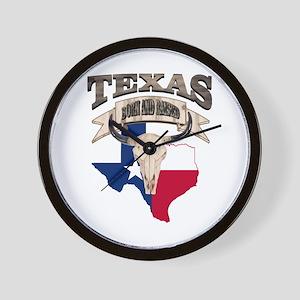 Bull Skull Texas home Wall Clock