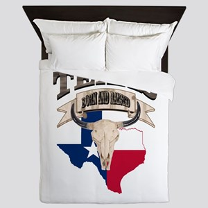 Bull Skull Texas home Queen Duvet