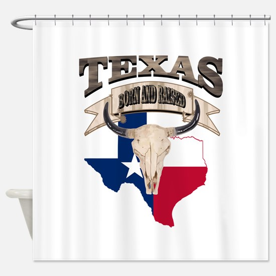 Bull Skull Texas home Shower Curtain