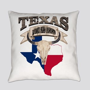 Bull Skull Texas home Everyday Pillow