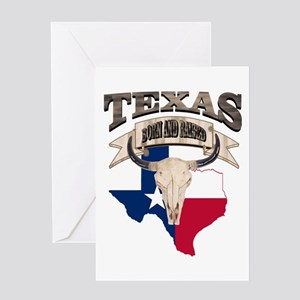 Texas greeting cards cafepress bull skull texas home greeting cards m4hsunfo