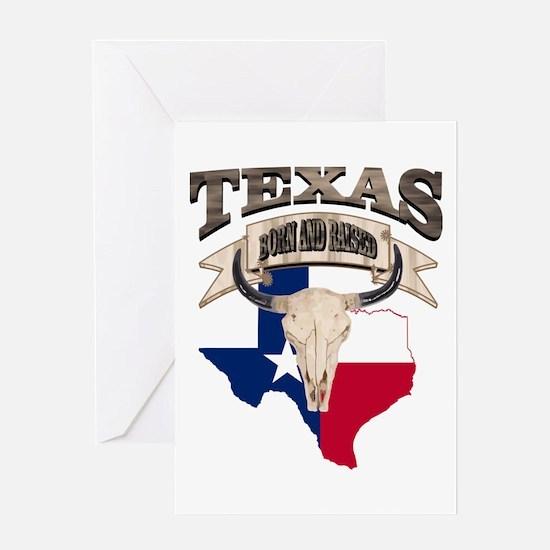 Bull Skull Texas home Greeting Cards