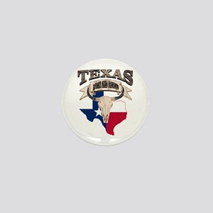 Bull Skull Texas home Mini Button