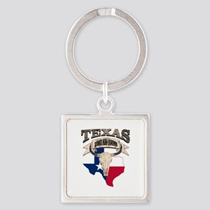 Bull Skull Texas home Keychains