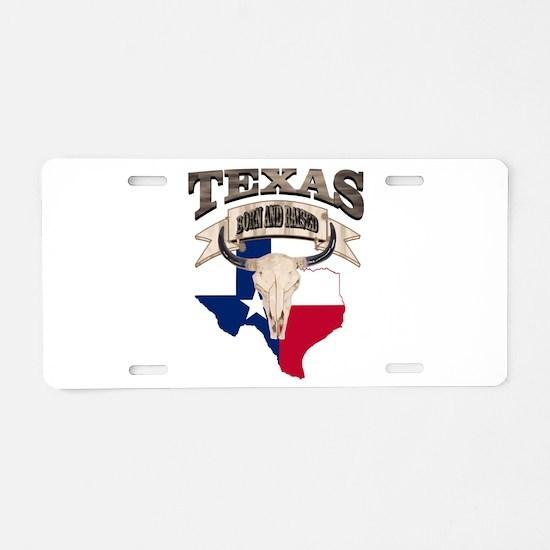 Bull Skull Texas home Aluminum License Plate