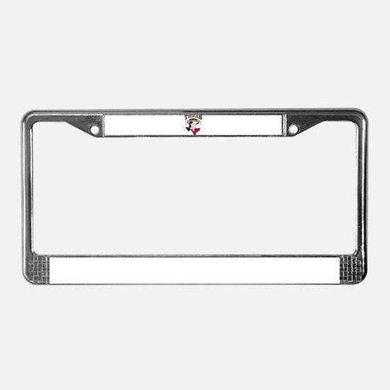 Bull Skull Texas home License Plate Frame