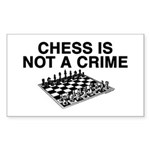 Chess is Not a Crime Rectangle Sticker