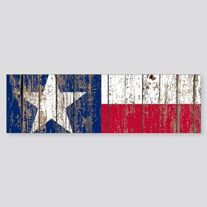 barn wood Texas Flag Bumper Sticker