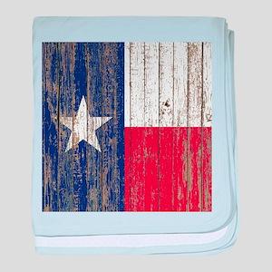 barn wood Texas Flag baby blanket