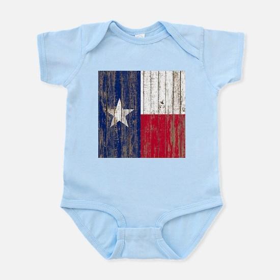 barn wood Texas Flag Body Suit