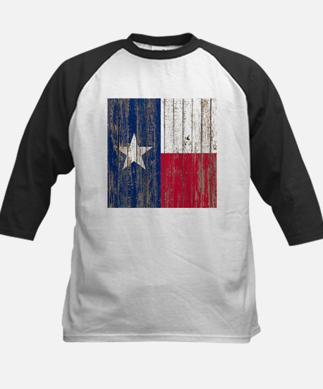 barn wood Texas Flag Baseball Jersey
