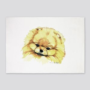 Pomeranian Head 2016 5'x7'Area Rug