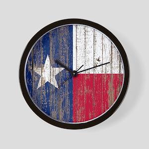 barn wood Texas Flag Wall Clock