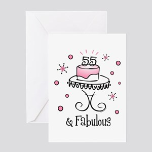 Fabulous 55 Greeting Cards