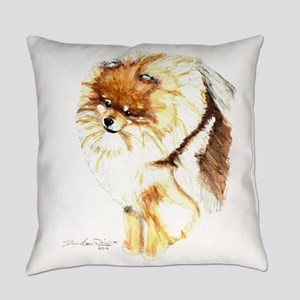 Pomeranian Front Everyday Pillow