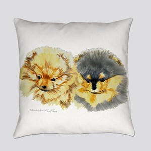 Pomeranian Pups Everyday Pillow