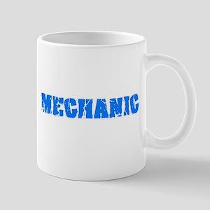 Mechanic Blue Bold Design Mugs
