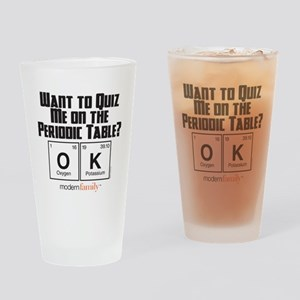 Modern Family Periodic Table Drinking Glass