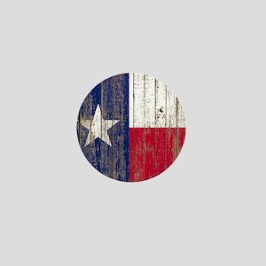 barn wood Texas Flag Mini Button