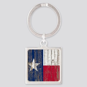 barn wood Texas Flag Keychains