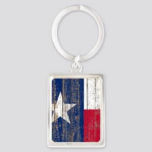 barn wood Texas Flag Keychains