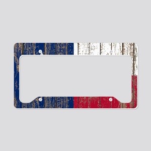 barn wood Texas Flag License Plate Holder