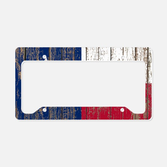 barn wood Texas Flag License Plate Holder