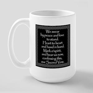Druid Vow (against black) Large Mug
