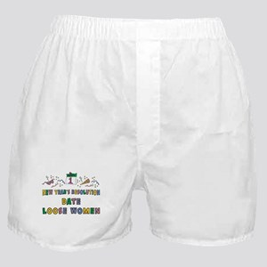 Funny New Year's Resolution Boxer Shorts
