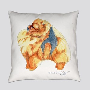 Pomeranian Profile sable Everyday Pillow