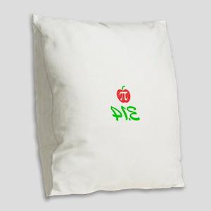 Pi Day 3.14 Burlap Throw Pillow