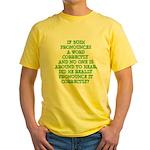 Pronounciation Yellow T-Shirt